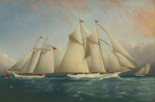 """perfect 36x24 oil painting handpainted on canvas """"The Yacht Racing """" NO8277"""