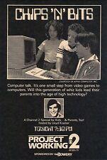 1983 Tv Ad~LLOYD KRAMER hosts CHIPS N BITS~WCBS in NEW YORK~APPLE COMPUTOR