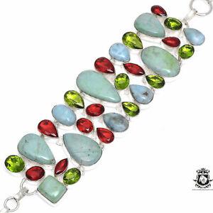 Ruby in Fuchsite Anyolite Garnet Peridot Bracelet B3356