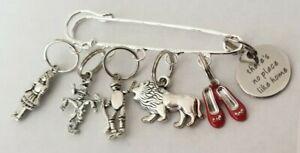 Silver Plated Kilt Pin & Wizard of Oz Tibetan Charms - Buy Any 2 Items - Save10%