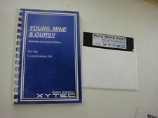 Yours Mine & Ours Multi User Accounting Commodore 64 - 5.25 Media
