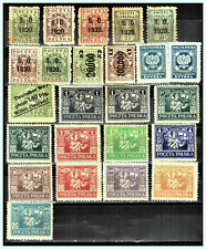 """POLAND - GERMANY - UPPER SILESIA 1920 - 1923 """"A Lot of Stamps"""" MH"""