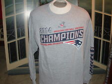 NEW ENGLAND PATRIOTS(2014 AFC Champions)LONG SLEEVE T-SHIRT.XL.NEWwo/Tags>>LQQK>
