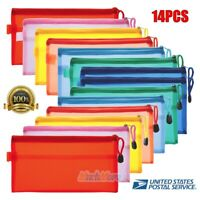 14X Pencil Pen Case Zipper Pouch Cosmetic Bag Storage Stationery Waterproof USA