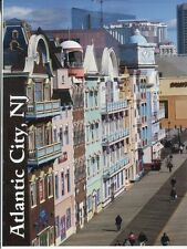 POST CARD OF A TRAVEL POSTER FOR ATLANTIC CITY SHOWING CONDOS ON THE BOARDWALK