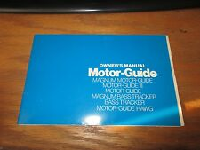 Owner's Manual Motor-Guide Magnum Bass Tracker Hawg III GUC w/Parts List