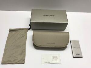 Giorgio Armani Case Sunglasses Eyeglasses Soft Protective  Case And Pouch BOX