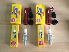 HONDA CB500 T TWIN 1975-1977 NGK SPARK PLUGS AND CAPS FREE POST!