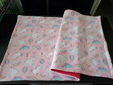 Fleece cage liner 2x4 c&c (77/158cm) absorbent & reversible PINK -  guinea pig
