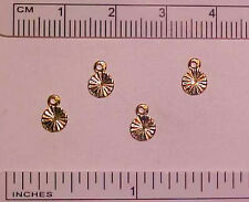 ROUND RIDGED DROPS/DANGLES for 1:9 Scale Model Horse Costumes - GOLD PLATED