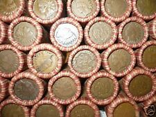 SEALED WHEAT INDIAN HEAD PENNY MIX SHOTGUN ROLL WITH INDIAN CENT END COIN LOT Z9