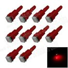 10X Red T5 1 5050 LED Dashboard Licence Plate Speed Wedge Light Car Bulb B001
