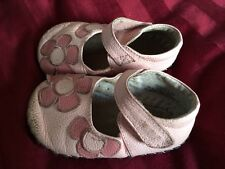 Pediped Originals Pink maryjanes Girls bow soft sole shoes 12-18 mo
