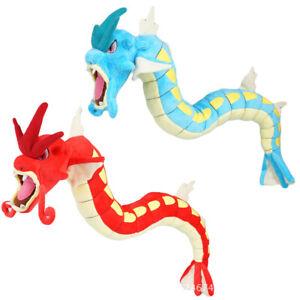 """60cm 23"""" Dinosaur Gyarados Plush Toy Blue Dragon Stuffed Doll Flexible Physical"""