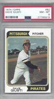 1974 Topps baseball card #82 Dave Giusti, Pittsburgh Pirates PSA 8 NMMT
