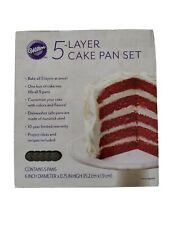 """Wilton 5 Layer 6"""" Mini Cake Pan Set"""