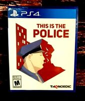 This Is The Police - PS4 - Sony PlayStation 4 - Brand NEW Sealed