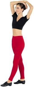Eurotard 10333 ankle leggings cotton lycra red black purple royal women MD XL