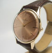 Movado 1950's large size 36 mm 14 K  14 ct gold Gents watch sweep seconds