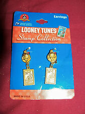 Bugs Bunny Looney Tunes 32 Cent Stamp Collection Earrings Womens US USPS Vintage