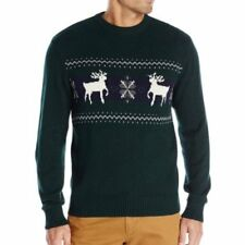 e2108c0b017103 DOCKERS Men s Sweater Green XXL 2xl Deer Snowflakes Holiday Christmas Cotton