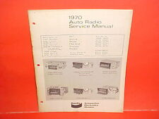 1970 FORD MUSTANG MACH I BOSS 302 429 COUGAR BENDIX AM-FM RADIO SERVICE MANUAL