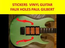 STICKERS FAUX HOLES RED PAUL GILBERT IBANEZ VISIT MY STORE FOR CUSTOM GUITARS
