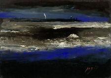 BREST Orage sur la RADE depuis l'Île de BENIGUET Pointe SAINT-MATHIEU BRETAGNE