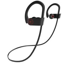 Premium Sound Bluetooth Sport Gym Wireless Headphones Earbuds - Black