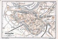 16 Angoulême 1912 pt. plan ville orig. + guide (5 p.) Bussatte Houmeau St-Cybard