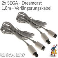 Dreamcast Verlängerungskabel Controller Verbindung Gamepad Verlängerung SEGA 2x