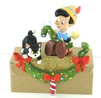 Disney Store Pinocchio Stocking Holder Hanger Christmas Garland EUC Figaro Cat