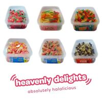 Heavenly Delights | Full Tubs Halal Sweets Candy Fizzy Pencils  | HMC Certified