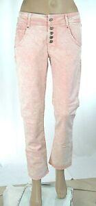 Jeans Donna Pantaloni MET  Regular Fit Made in Italy C742 Rosa Chiaro Tg 27