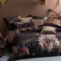 Linen House Neve Wine Quilt Cover Set | Richly saturated shades of plum and wine