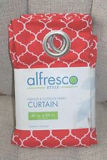 Indoor Outdoor Trellis Fabric Curtains Red and White New Fast Shipping