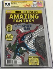 Amazing Fantasy #15 Reprint Signed Stan Lee Cgc 9.8 Ss 1st Spiderman Appearance