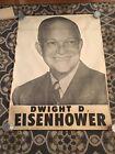 "Rare Large Original Dwight D Eisenhower Campaign Poster 53+"""