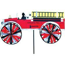 Moulin à vent Camion de pompier, Fire truck wind spinner, Feuerwehrauto Windrad