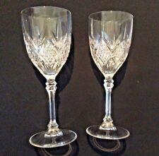 "New ListingPair Of Wine Glasses Diamond Cut Design 7-3/4"" Traditional Classic!"