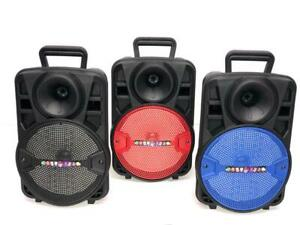 "8"" 1500W Portable FM Bluetooth Speaker Sub woofer Heavy Bass Sound System Party"