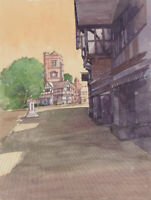 Clifford H. Thompson (1926-2017) - 2007 Watercolour, Street Scene