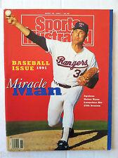 1991 NOLAN RYAN TEXAS RANGERS MIRACLE MAN MLB 4-15  Sports Illustrated NO LABEL