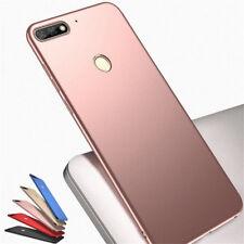 For Huawei Y9 Y7 Y6 Pro Y5 2018 Shockproof Slim Hard Plain Back Case Cover Skin