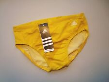 ADIDAS Yellow Infinitex Plus Shock Energy Swim Brief Swimsuit NWT Size 30