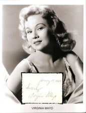 Virginia Mayo Autograph The Best Years of Our Lives Jack London Girl Next Door 1