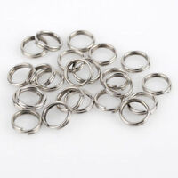 200Pcs 7-10mm Stainless Steel Round Split Rings Small Double Ring Jewelry Making