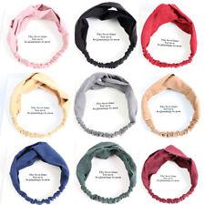 Fashion Women Sports Gym Hair band Stretch Headwear Non Slip Twist Knot Headband
