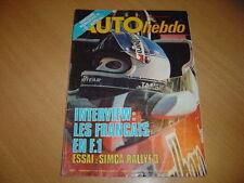 Auto hebdo N°102 Simca Rallye 3.