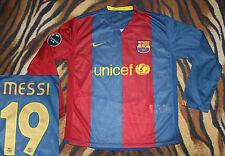 MESSI long sleeve jersey nike #19 kit FC Barcelona shirt unicef  M  05/06 champ